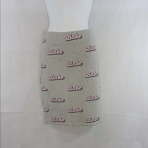 Gray Babe skirt.